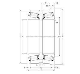 Gamet 110053X/110096XH Rolamentos de rolos gravados