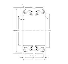 Gamet 131095/131152XG Rolamentos de rolos gravados