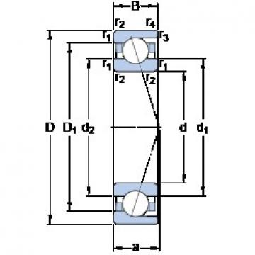 12 mm x 24 mm x 6 mm  SKF 71901 CD/HCP4A Rolamentos de esferas de contacto angular