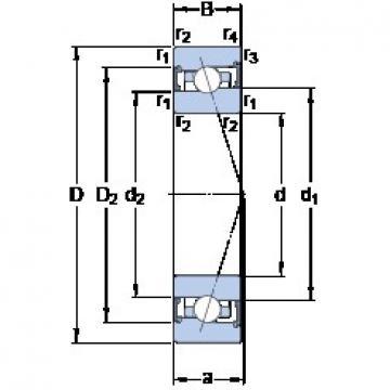 45 mm x 68 mm x 12 mm  SKF S71909 ACB/P4A Rolamentos de esferas de contacto angular