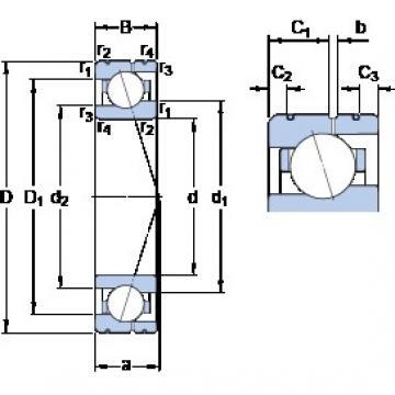 40 mm x 62 mm x 12 mm  SKF 71908 ACE/HCP4AL Rolamentos de esferas de contacto angular