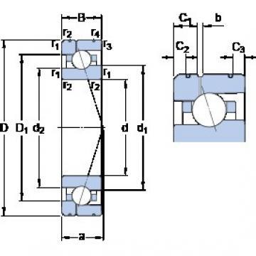 95 mm x 145 mm x 24 mm  SKF 7019 CE/P4AL1 Rolamentos de esferas de contacto angular