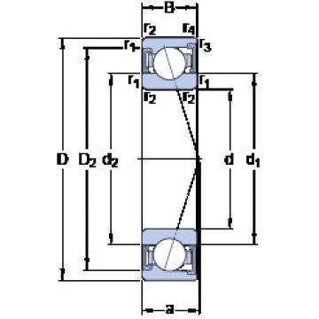 50 mm x 90 mm x 20 mm  SKF S7210 ACD/P4A Rolamentos de esferas de contacto angular