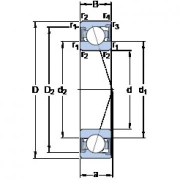 75 mm x 105 mm x 16 mm  SKF S71915 CD/HCP4A Rolamentos de esferas de contacto angular