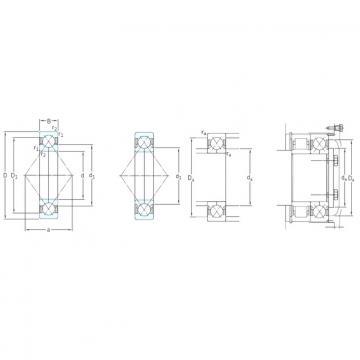 180 mm x 380 mm x 75 mm  SKF QJ336N2MA Rolamentos de esferas de contacto angular