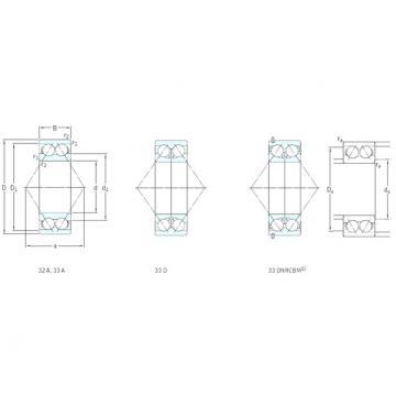 65 mm x 140 mm x 58,7 mm  SKF 3313DNRCBM Rolamentos de esferas de contacto angular