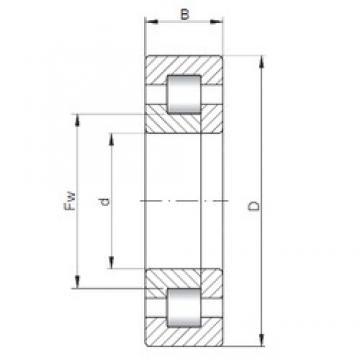 380 mm x 560 mm x 106 mm  ISO NUP2076 Rolamentos cilíndricos