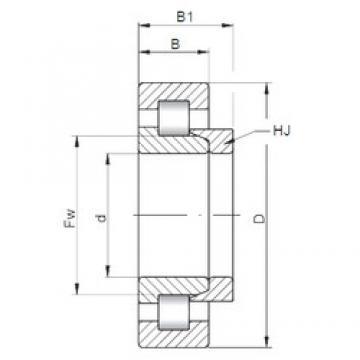 110 mm x 200 mm x 38 mm  ISO NH222 Rolamentos cilíndricos