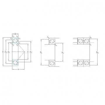 35 mm x 72 mm x 17 mm  SKF 7207BECBP Rolamentos de esferas de contacto angular