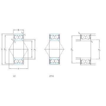 10 mm x 30 mm x 14,3 mm  SKF 3200A-2Z Rolamentos de esferas de contacto angular