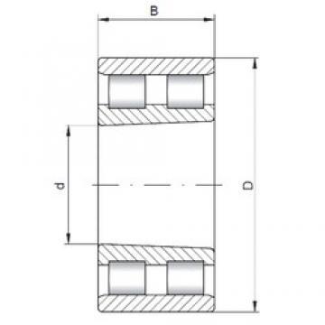 360 mm x 440 mm x 80 mm  ISO NN4872 K Rolamentos cilíndricos