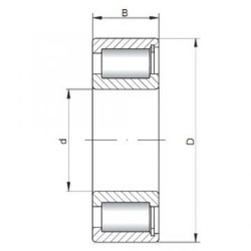 170 mm x 260 mm x 67 mm  ISO NCF3034 V Rolamentos cilíndricos