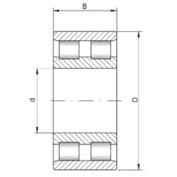 340 mm x 520 mm x 133 mm  ISO NN3068 Rolamentos cilíndricos