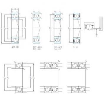 60 mm x 85 mm x 13 mm  SKF S71912 CB/P4A Rolamentos de esferas de contacto angular