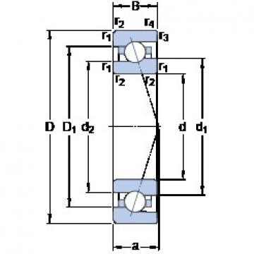 45 mm x 75 mm x 16 mm  SKF 7009 ACE/HCP4A Rolamentos de esferas de contacto angular