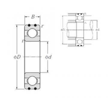 20 mm x 52 mm x 15 mm  NTN AC-6304 Rolamentos de esferas profundas