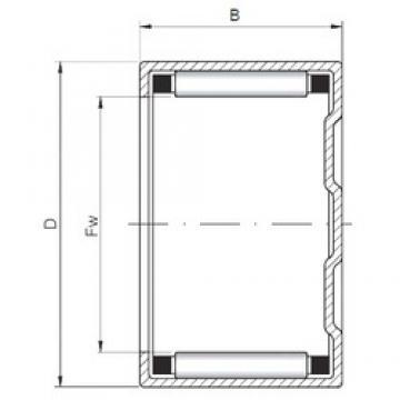 ISO BK1620 Rolamentos cilíndricos
