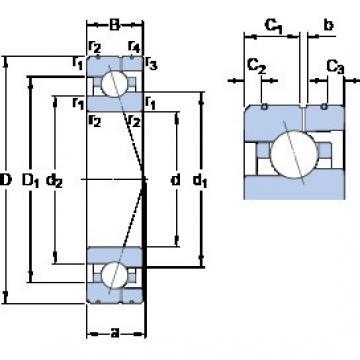 80 mm x 125 mm x 22 mm  SKF 7016 ACE/P4AL Rolamentos de esferas de contacto angular