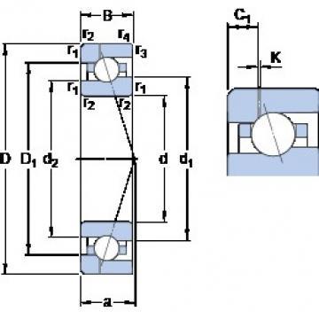 120 mm x 180 mm x 28 mm  SKF 7024 CE/P4AH1 Rolamentos de esferas de contacto angular