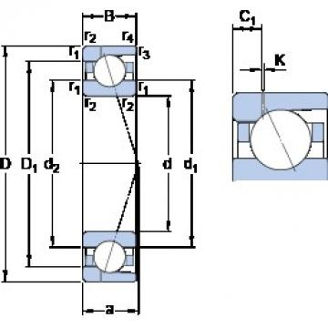 160 mm x 240 mm x 38 mm  SKF 7032 ACD/P4AH1 Rolamentos de esferas de contacto angular