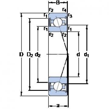 95 mm x 145 mm x 24 mm  SKF S7019 ACE/P4A Rolamentos de esferas de contacto angular