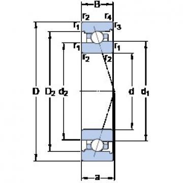 30 mm x 55 mm x 13 mm  SKF 7006 CB/HCP4A Rolamentos de esferas de contacto angular