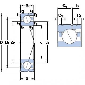 160 mm x 240 mm x 38 mm  SKF 7032 CD/P4AL Rolamentos de esferas de contacto angular