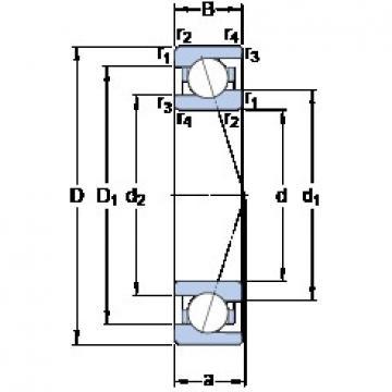 120 mm x 165 mm x 22 mm  SKF 71924 CE/HCP4A Rolamentos de esferas de contacto angular