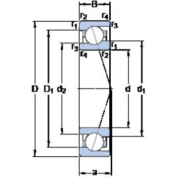 40 mm x 62 mm x 12 mm  SKF 71908 ACE/HCP4A Rolamentos de esferas de contacto angular