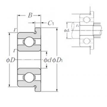 2 mm x 6 mm x 2,3 mm  NTN FL692 Rolamentos de esferas profundas