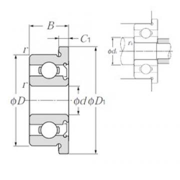 2,5 mm x 6 mm x 2,6 mm  NTN FLW68/2,5ZA Rolamentos de esferas profundas