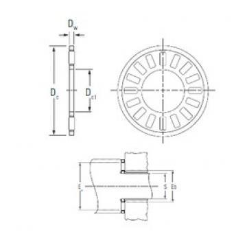 KOYO NTA-411 Rolamentos de agulha