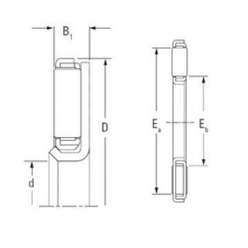 KOYO FNTF-2847 Rolamentos de agulha