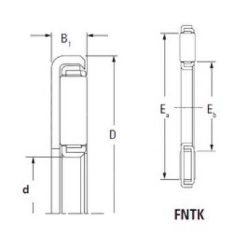 KOYO FNTK-2544 Rolamentos de agulha