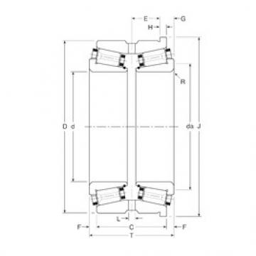 Gamet 123073X/123121XH Rolamentos de rolos gravados