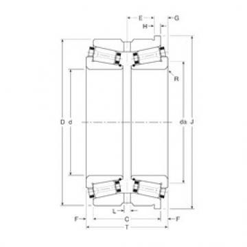 Gamet 160098X/160152XH Rolamentos de rolos gravados