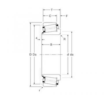 57,15 mm x 100 mm x 29,5 mm  Gamet 110057X/110100 Rolamentos de rolos gravados