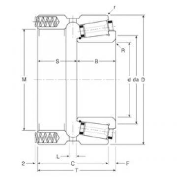136,525 mm x 215,9 mm x 51 mm  Gamet 200136X/200215XP Rolamentos de rolos gravados