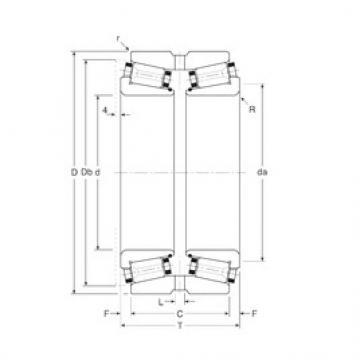 Gamet 186165X/186254XG Rolamentos de rolos gravados