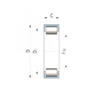 KOYO DB600-240 Rolamentos de agulha