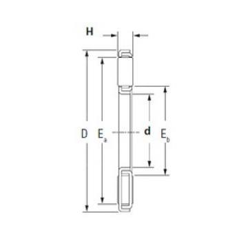 KOYO TP4668-2 Rolamentos de agulha