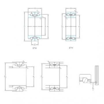 70 mm x 110 mm x 24 mm  SKF BTW 70 CTN9/SP Rolamentos de esferas de contacto angular