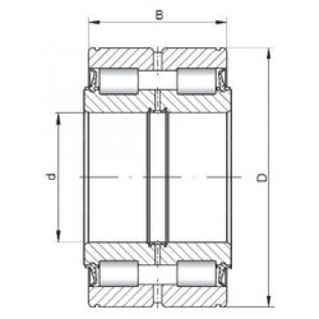 170 mm x 260 mm x 122 mm  ISO NNF5034 V Rolamentos cilíndricos