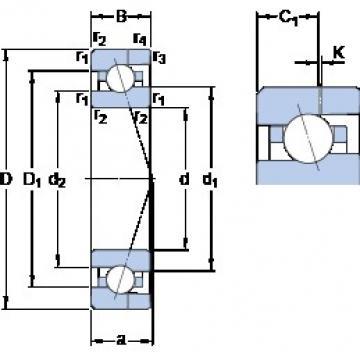 15 mm x 32 mm x 9 mm  SKF 7002 CE/HCP4AH Rolamentos de esferas de contacto angular