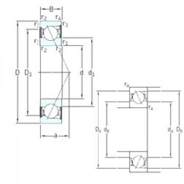 40 mm x 80 mm x 18 mm  SKF SS7208 ACD/HCP4A Rolamentos de esferas de contacto angular